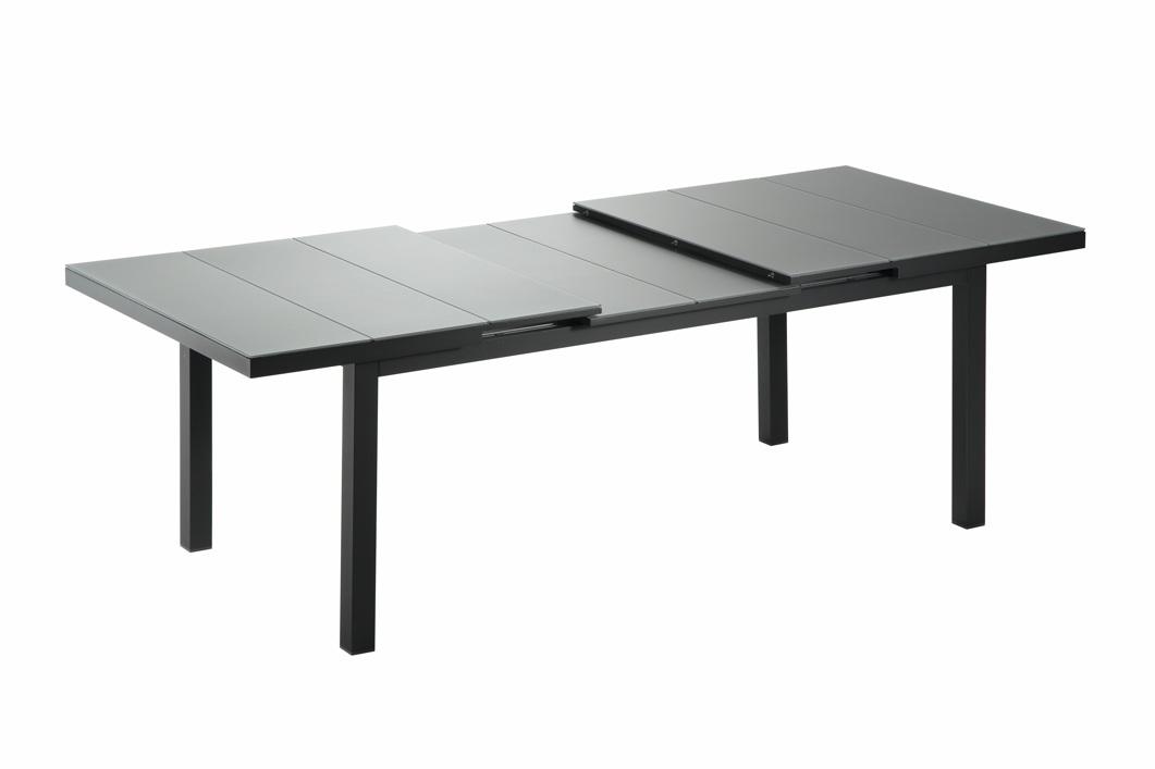 gartentisch niehoff nancy ausziehtisch 180x95 aluminium mit glasplatte gartenm bel fachhandel. Black Bedroom Furniture Sets. Home Design Ideas