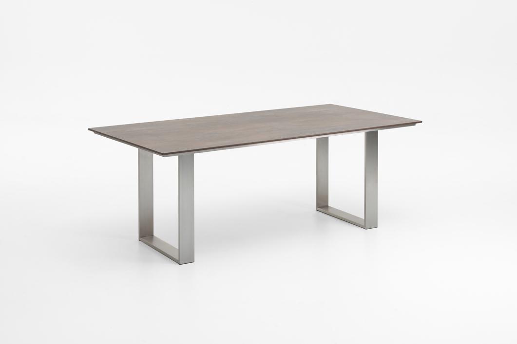 gartentisch niehoff noah profilkufe esstisch 200x95 hpl grau braun gartenm bel fachhandel. Black Bedroom Furniture Sets. Home Design Ideas