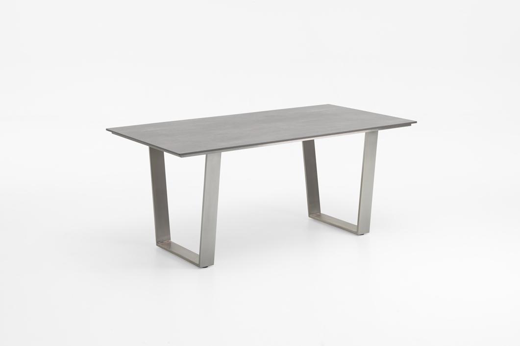 Gartentisch Niehoff Noah Trapezkufe Esstisch Hpl Beton Design 160