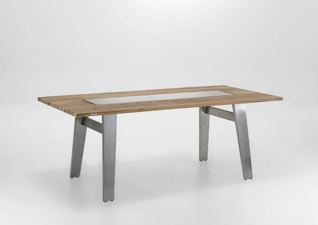 Gartentisch Niehoff Noah Trapezfuss Esstisch 180x95 Teak Recycled