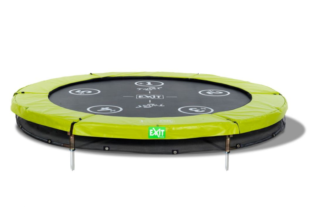 Kinder Trampolin Exit Twist Ground Grun O 244 Cm Bodentrampolin