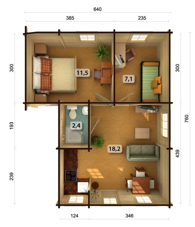 gartenhaus palmako david ferienhaus ferienhaus. Black Bedroom Furniture Sets. Home Design Ideas