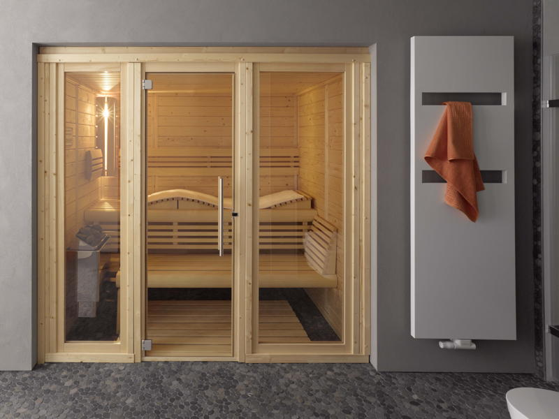 heimsauna helo casa saunakabine blockbohlensauna. Black Bedroom Furniture Sets. Home Design Ideas