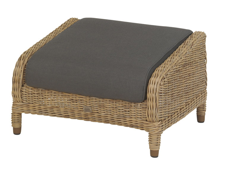 polyrattan hocker brighton fu auflage premium geflecht. Black Bedroom Furniture Sets. Home Design Ideas