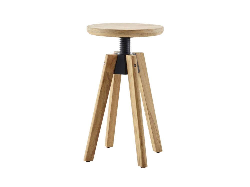 hocker solpuri spindle drehhocker teakholz gartenm bel fachhandel. Black Bedroom Furniture Sets. Home Design Ideas