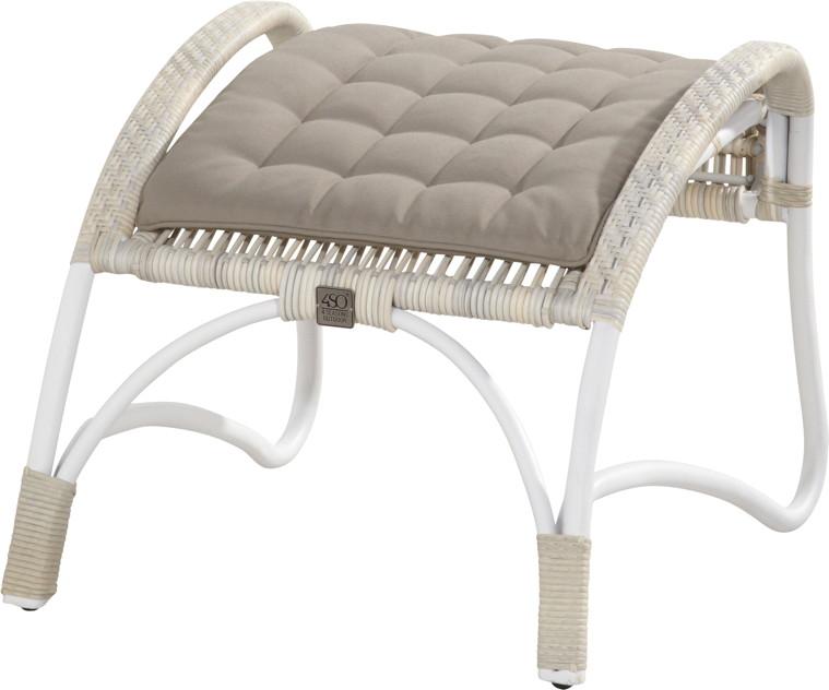 hocker olivia fu auflage rattan geflecht korbhocker mit auflage gartenm bel fachhandel. Black Bedroom Furniture Sets. Home Design Ideas