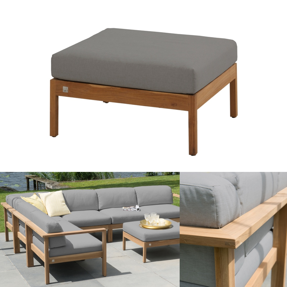 hocker 4seasons lido teak fu auflage teakholz kissen gartenm bel fachhandel. Black Bedroom Furniture Sets. Home Design Ideas