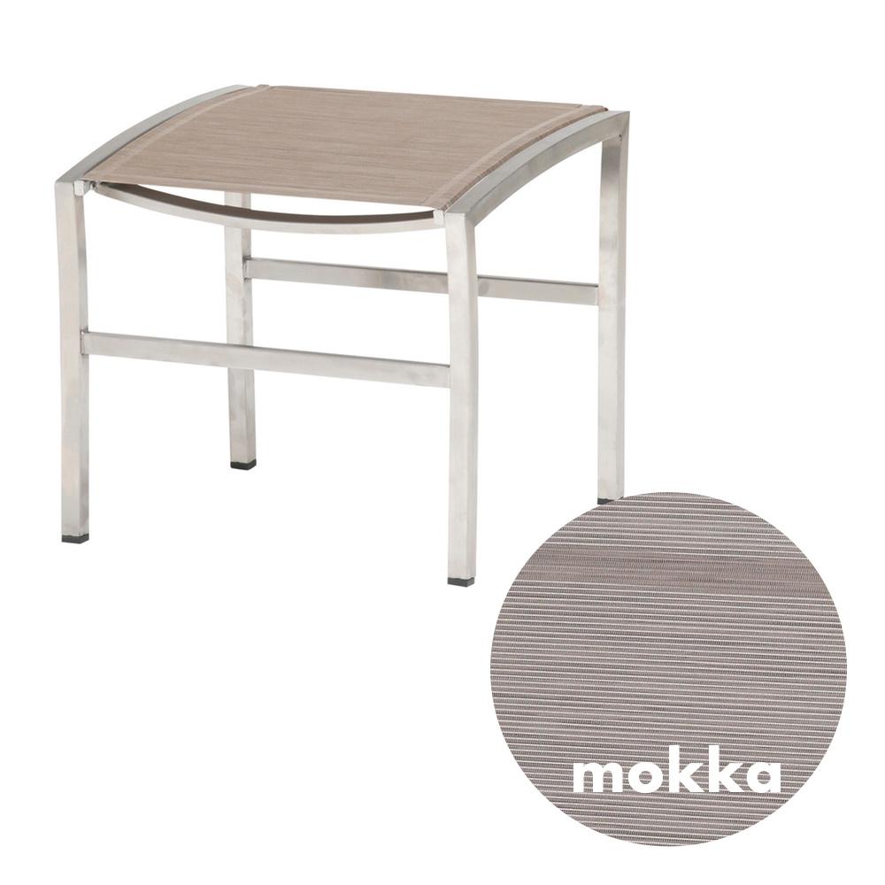 hocker 4season nexxt fu auflage mocca edelstahl textilene vom garten fachh ndler. Black Bedroom Furniture Sets. Home Design Ideas
