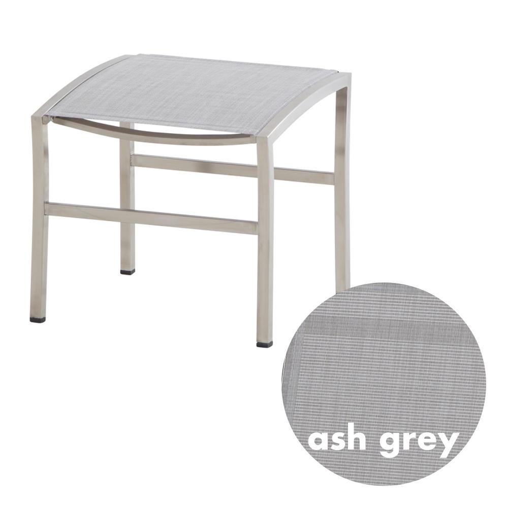 hocker 4season nexxt fu auflage ash grey edelstahl textilene vom garten fachh ndler. Black Bedroom Furniture Sets. Home Design Ideas