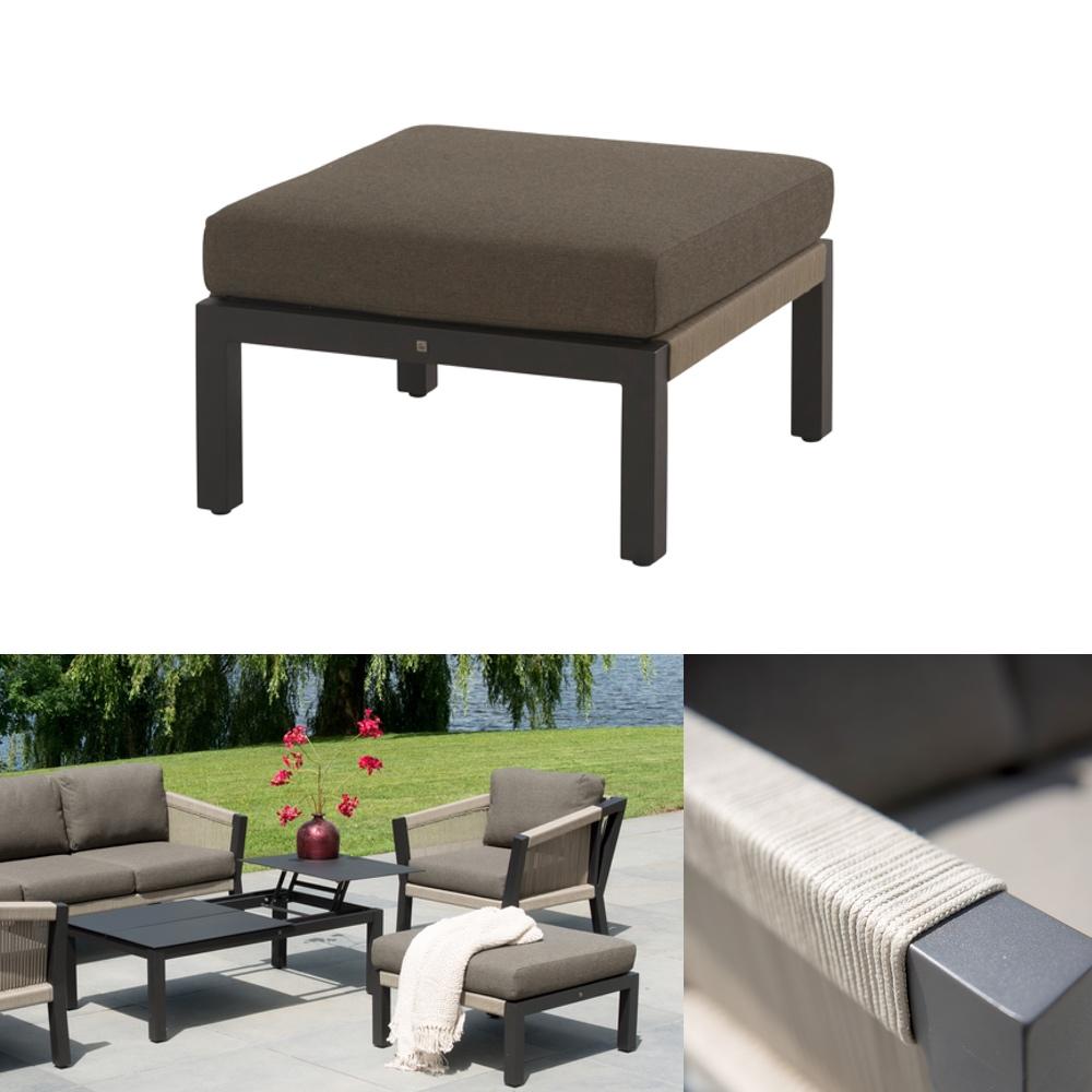 hocker 4seasons oslo fu auflage rattan geflecht mit kissen gartenm bel fachhandel. Black Bedroom Furniture Sets. Home Design Ideas