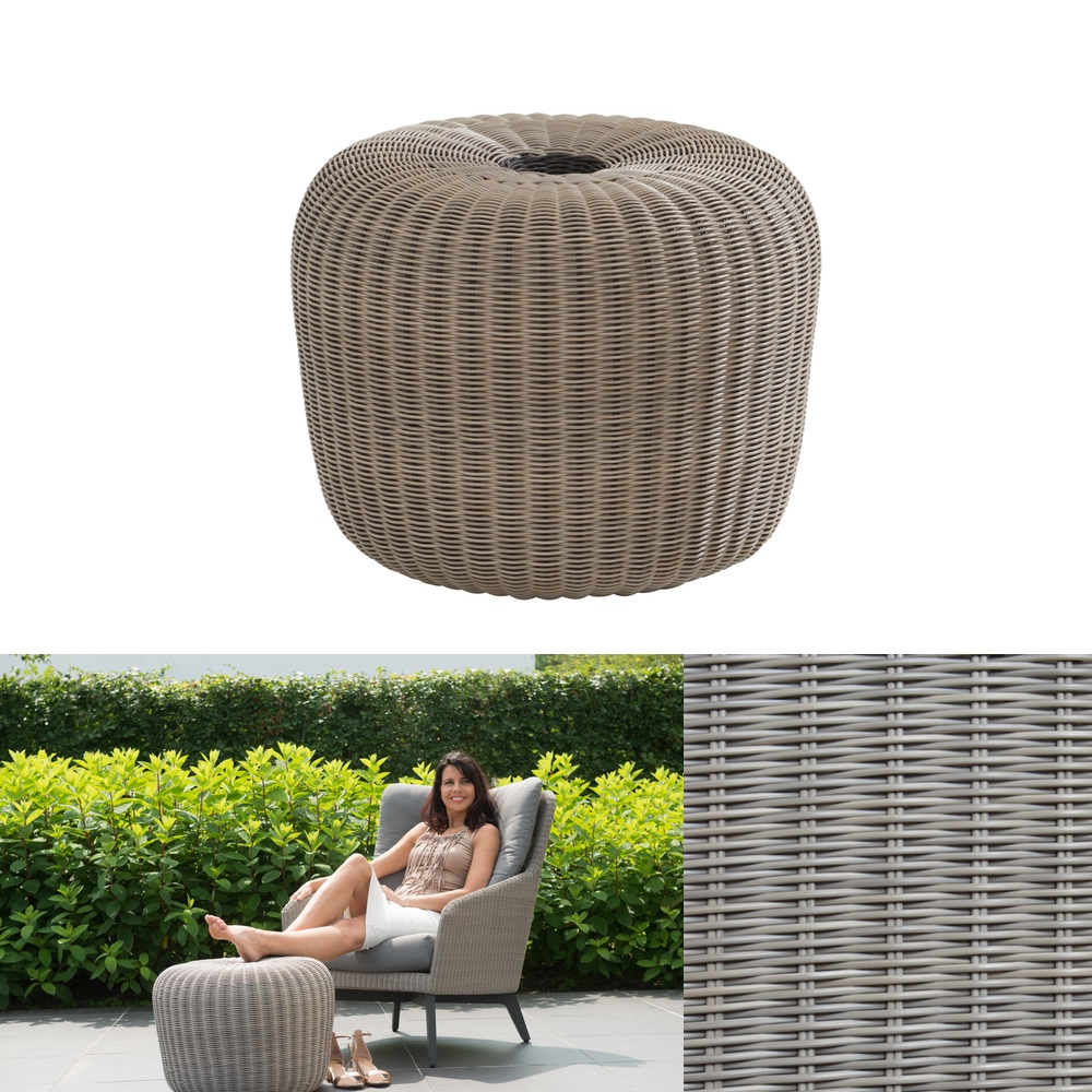 hocker 4seasons donut 52 cm polyloom pepple fu auflage polyrattan gartenm bel fachhandel. Black Bedroom Furniture Sets. Home Design Ideas