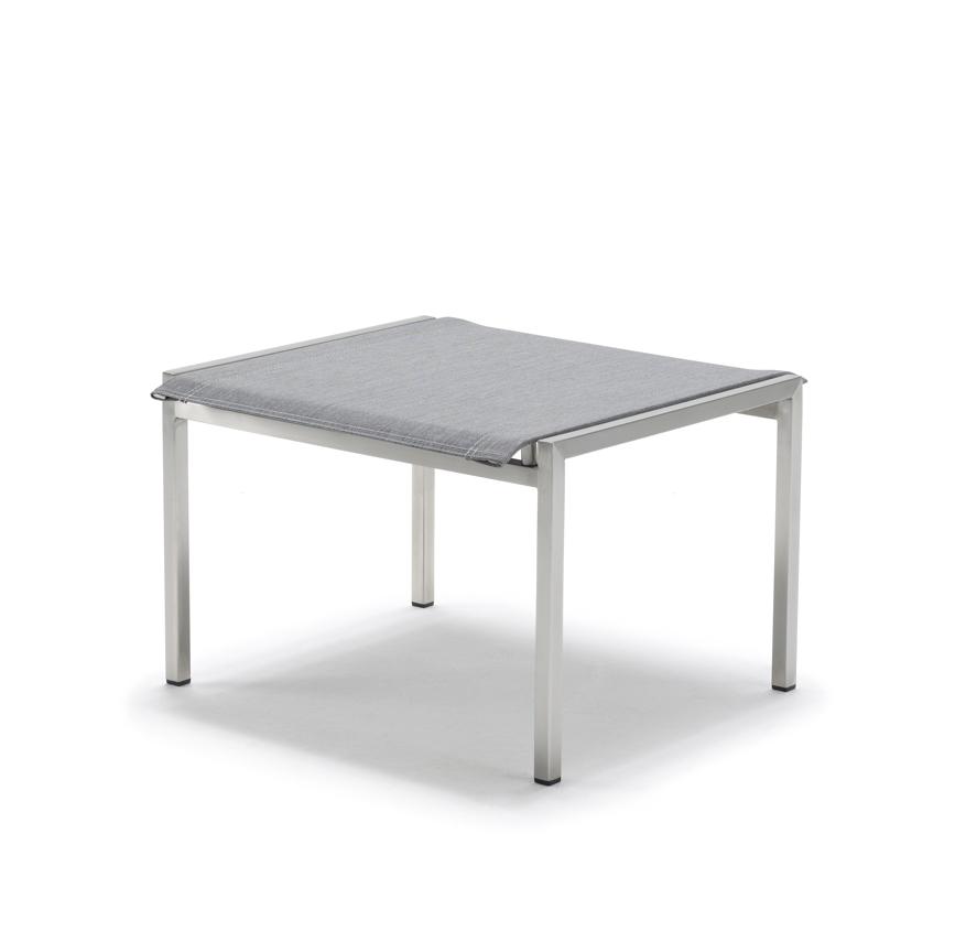 hocker solpuri pure fu auflage f r deck chair edelstahl textilene silver grey gartenm bel. Black Bedroom Furniture Sets. Home Design Ideas