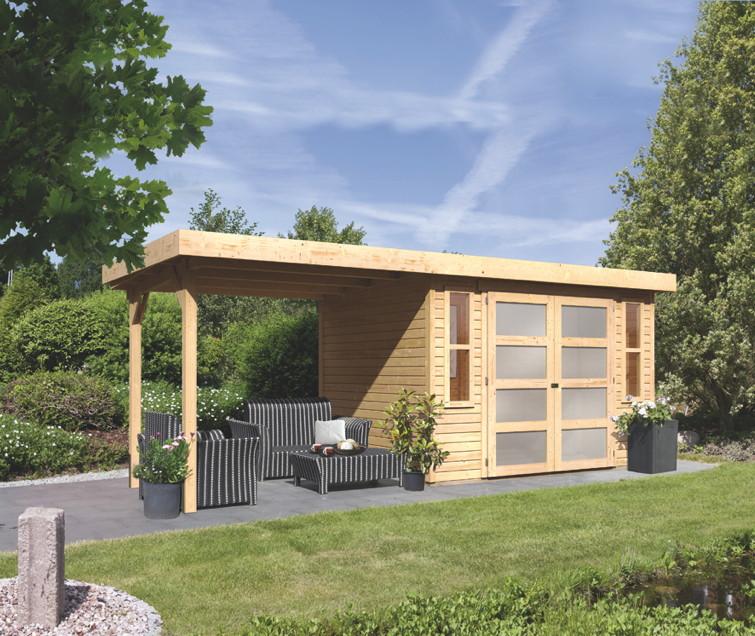 Holz Haus Haensler: Gartenhaus KARIBU «MÜHLENDORF» Holz Haus Bausatz