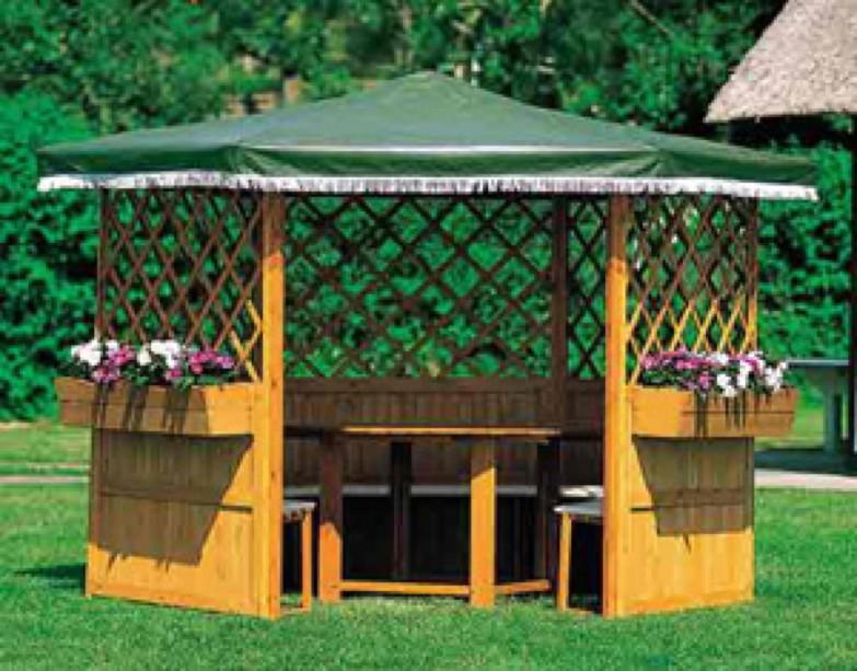 pavillon promadino marburg 6 eck holz pavillon pavillon garten laube aus holz pavillion. Black Bedroom Furniture Sets. Home Design Ideas