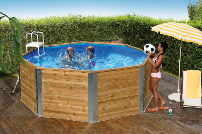 Swimmingpool holz  Holzpool WEKA «Massivholzpool 593» - Schwimmbecken aus Holz ...