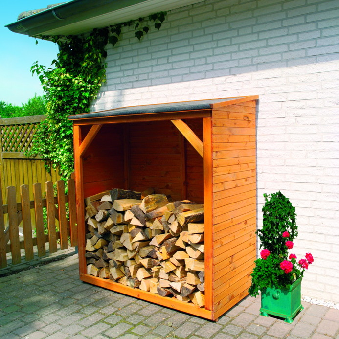 Holz lagerplatz promadino kaminholzschrank holzlager for Schrank stufe 0
