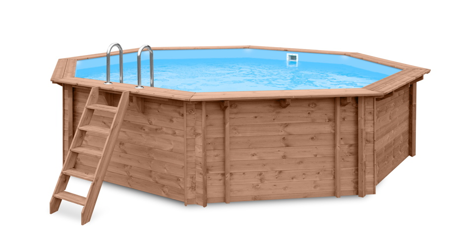garten holzpool schwimmbecken swimmingpool 8 eck gartenpool inkl treppe vom garten. Black Bedroom Furniture Sets. Home Design Ideas