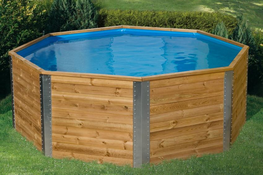 Pool im garten aufstellen untergrund for Holzpool obi