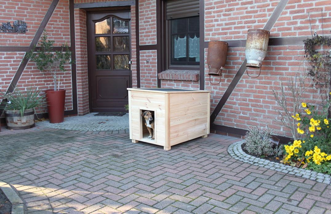 holz hundeh tte promadino bungalow hundehaus ged mmte. Black Bedroom Furniture Sets. Home Design Ideas