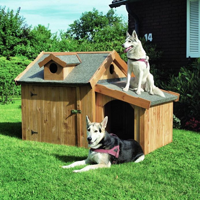 holz hundeh tte promadino max hundehaus ged mmte hundeh tte hundeh tten kleintiergehege. Black Bedroom Furniture Sets. Home Design Ideas