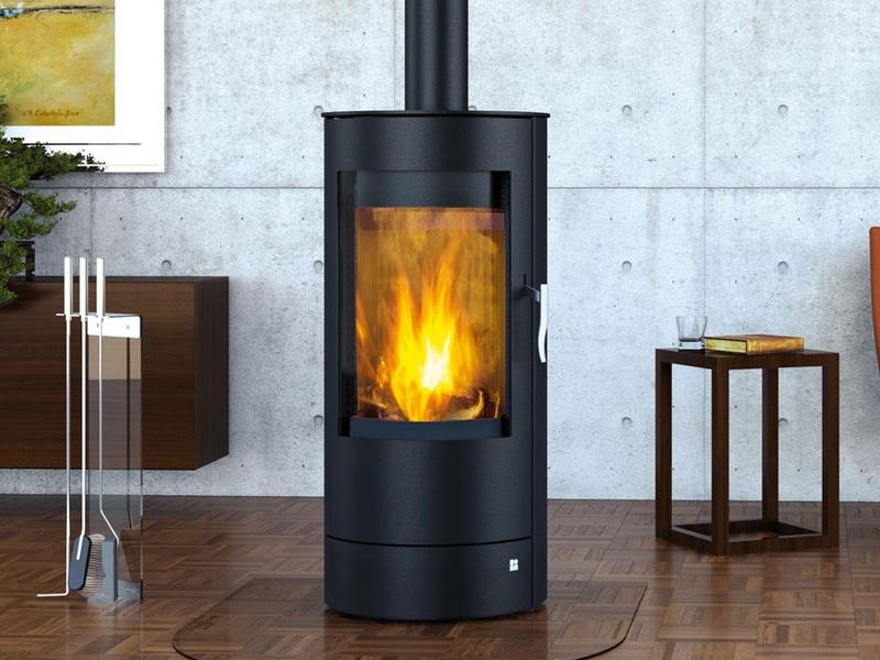 design kamin ofen 6kw olsberg purico schwarz standkamin stahlkamin. Black Bedroom Furniture Sets. Home Design Ideas