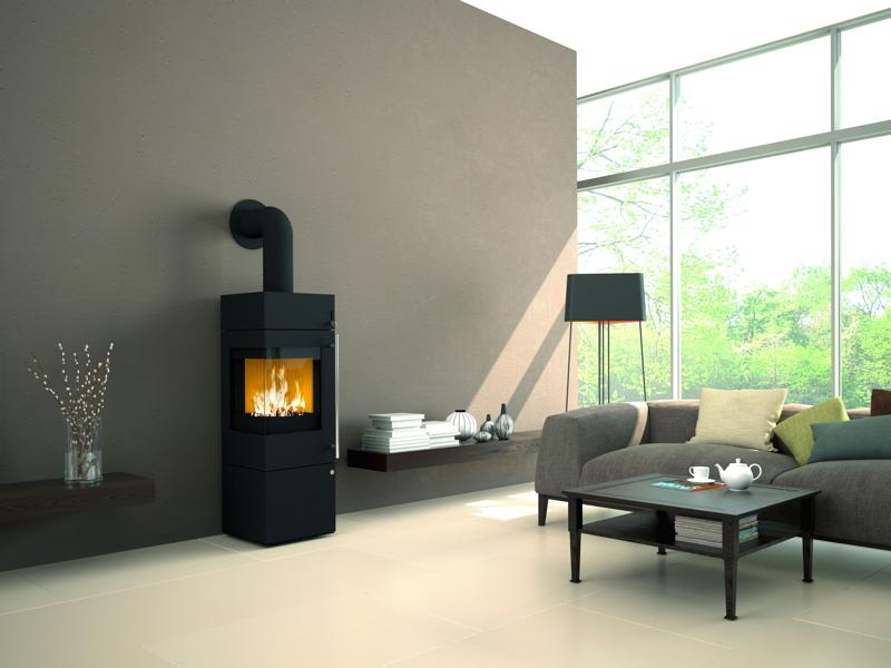 Design-Kamin-Ofen OLSBERG Ipala Compact Standkamin, Stahlkamin