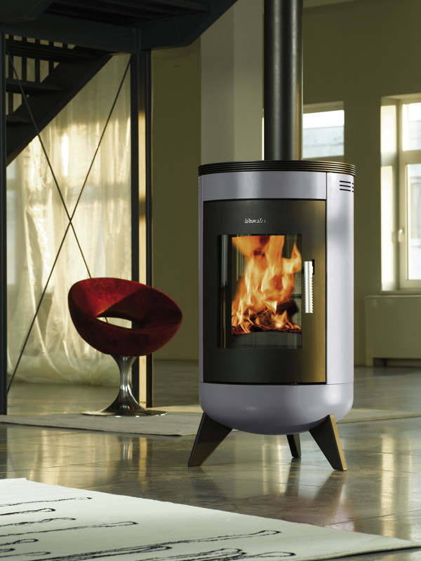 kamin ofen wamsler metropolitan silber 7 0 kw runder. Black Bedroom Furniture Sets. Home Design Ideas