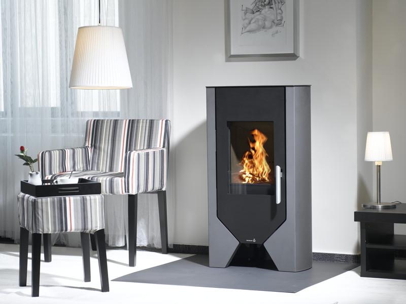 kamin ofen wamsler m line boston 5 0 kw stahlkamin schwarz grau design kamin fen f r. Black Bedroom Furniture Sets. Home Design Ideas