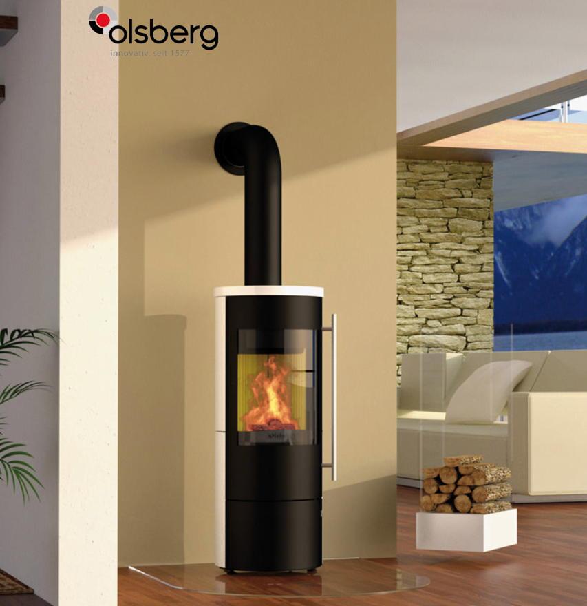 Design-Kamin-Ofen OLSBERG Tipas Compact II weiß Standkamin