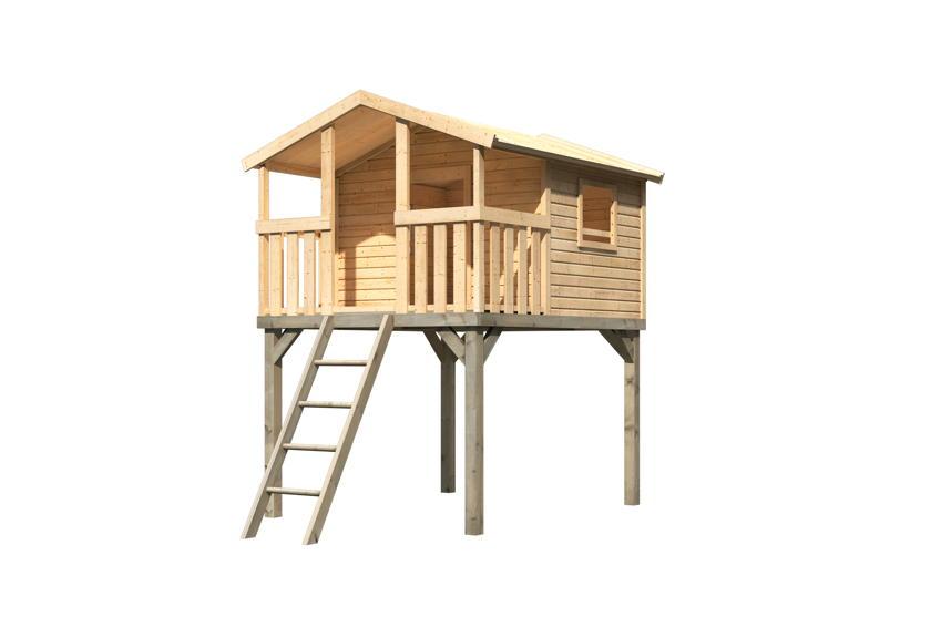 kinder stelzenhaus karibu hochburg spielhaus holz. Black Bedroom Furniture Sets. Home Design Ideas