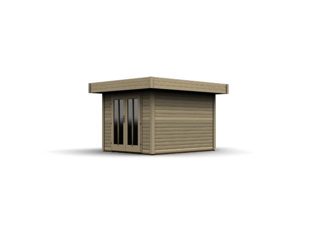 gartenhaus flachdach karibu multi cube 2 ebay. Black Bedroom Furniture Sets. Home Design Ideas