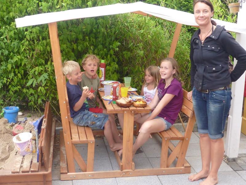 Holz Pavillon Dach Praktiker ~ Kinder Pavillon PROMADINO «Anna» Holzpavillon mit Dach 2 Bänke, 1