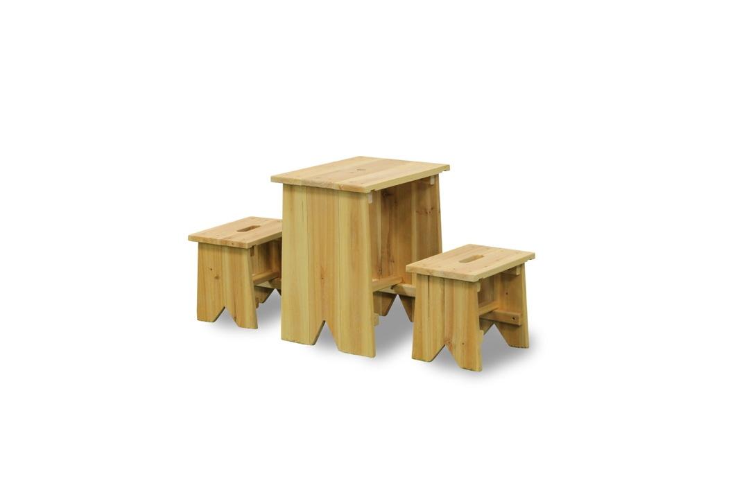 Kinder-Holz-Gartenbank Picknick-Set Größe XL Holz ...
