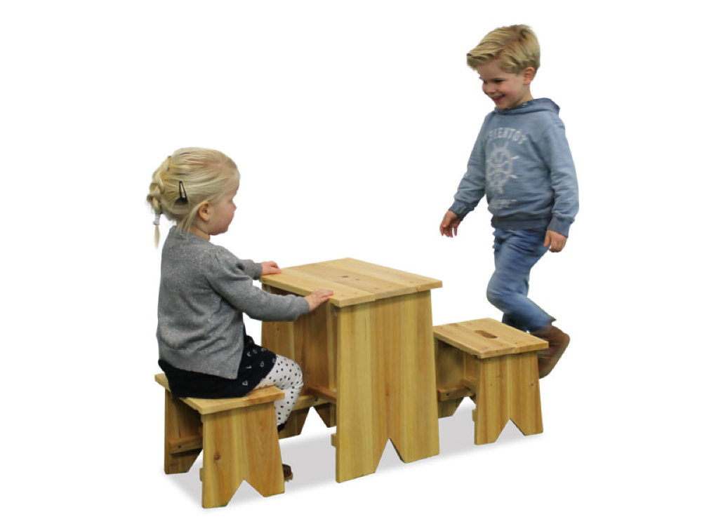 kinder holz gartenbank picknick set gr e l kinder. Black Bedroom Furniture Sets. Home Design Ideas