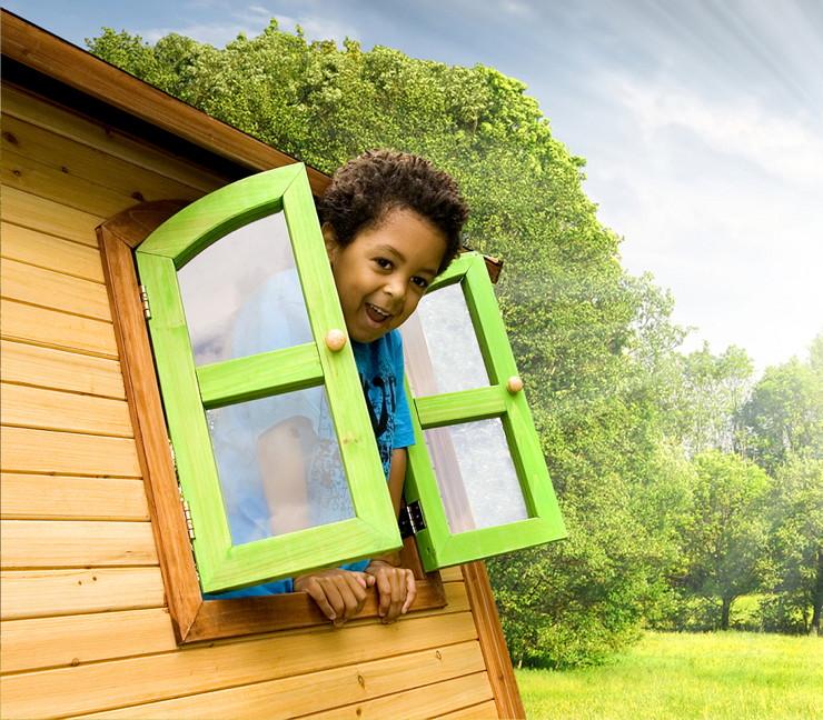stelzen spielhaus hohes kleines kinderspielhaus holz rutsche sandkiste lasiert spielhaus. Black Bedroom Furniture Sets. Home Design Ideas