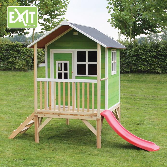kinder spielhaus flaches stelzen kinderspielhaus stelzenhaus natur klein rutsche spielhaus. Black Bedroom Furniture Sets. Home Design Ideas
