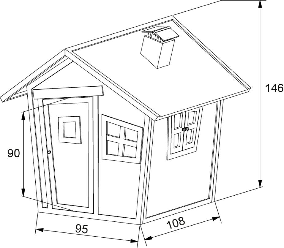 kinder spielhaus axi alice comic kinderspielhaus aus. Black Bedroom Furniture Sets. Home Design Ideas