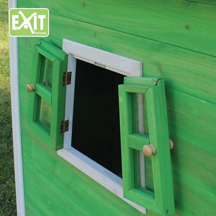 kinder spielhaus holz exit fantasia 300 kinderspielhaus stelzenhaus rotbraun. Black Bedroom Furniture Sets. Home Design Ideas