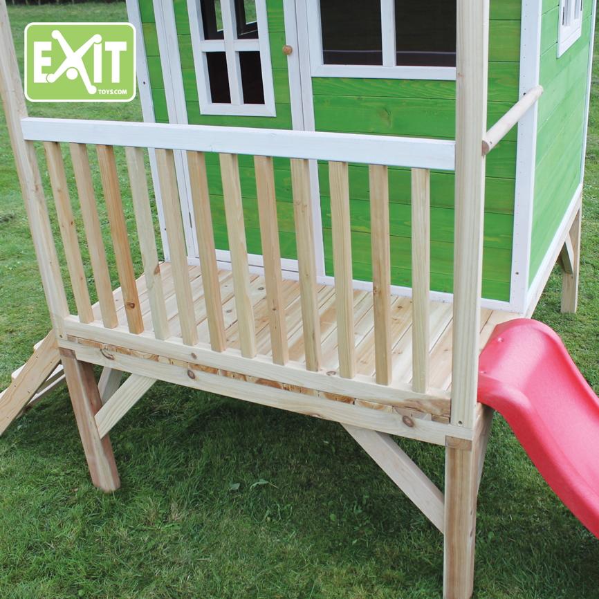 Holz Haus Haensler: Holz-Kinder-Spielhaus Flaches Stelzen-Kinderspielhaus
