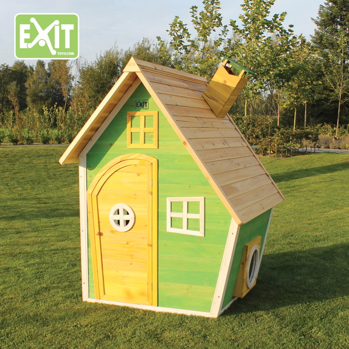 kinder spielhaus exit fantasia 100 comic kinderspielhaus holzhaus ebay. Black Bedroom Furniture Sets. Home Design Ideas