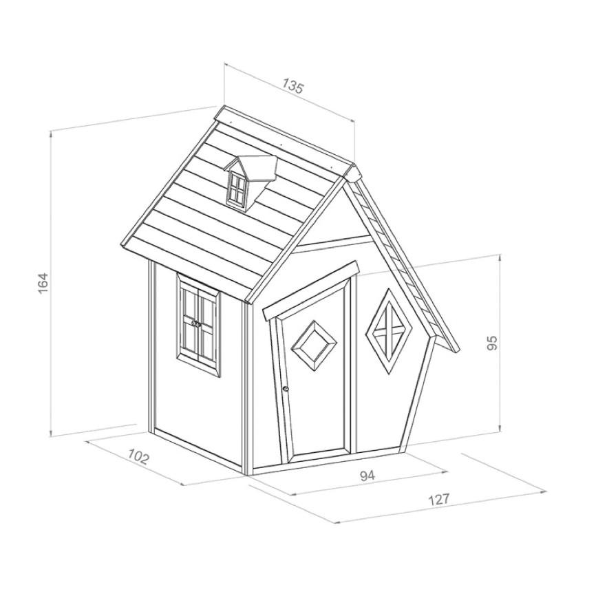 kinder spielhaus beachstyle cabin wei grau. Black Bedroom Furniture Sets. Home Design Ideas