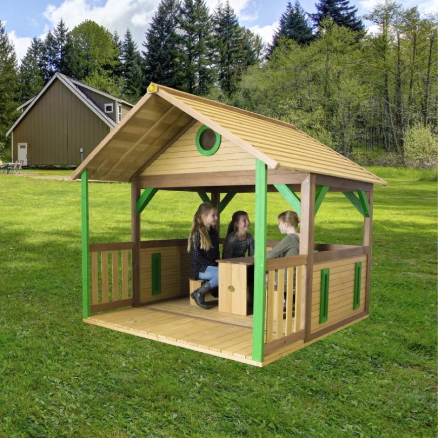 kinder spielhaus holz flaches offenes kinder spielhaus. Black Bedroom Furniture Sets. Home Design Ideas