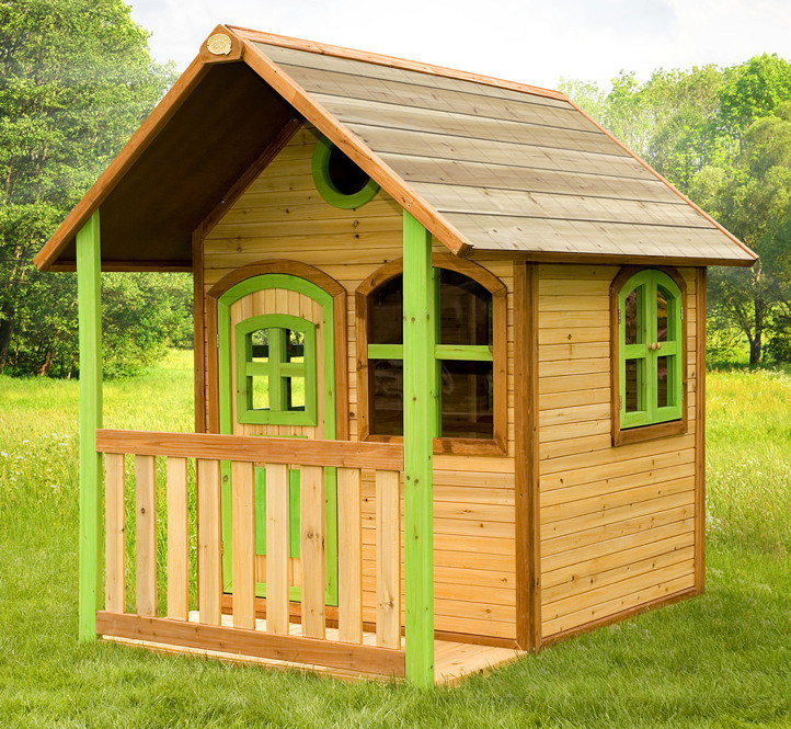 Kinder Spielhaus Geschlossen Veranda Kinderspielhaus Holz Farbig