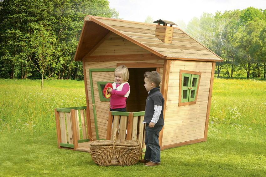 kinder spielhaus axi jesse holz comic kinderspielhaus mit terrasse spielhaus kinderhaus. Black Bedroom Furniture Sets. Home Design Ideas
