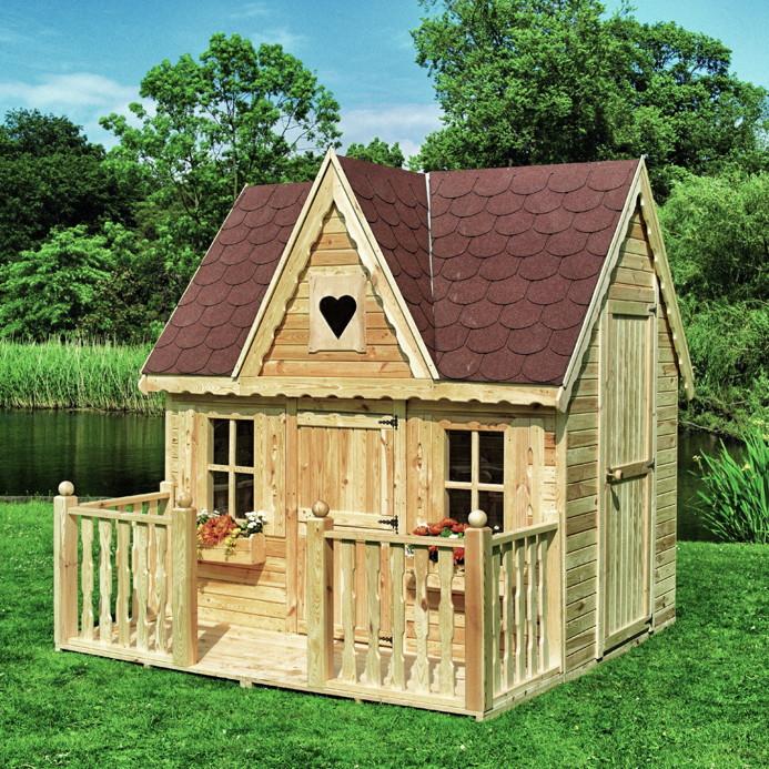Kinder-Spielhaus PROMADINO Schwalbennest Holzhaus Gartenhaus Gartenspielhaus