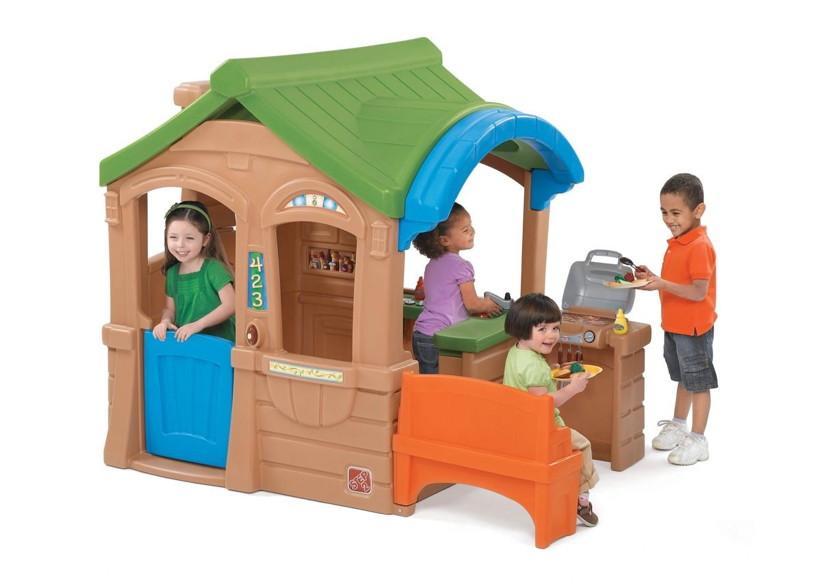 kinder spielhaus step 2 grillhaus kinderhaus kunststoff mit k che spielhaus kinderhaus. Black Bedroom Furniture Sets. Home Design Ideas
