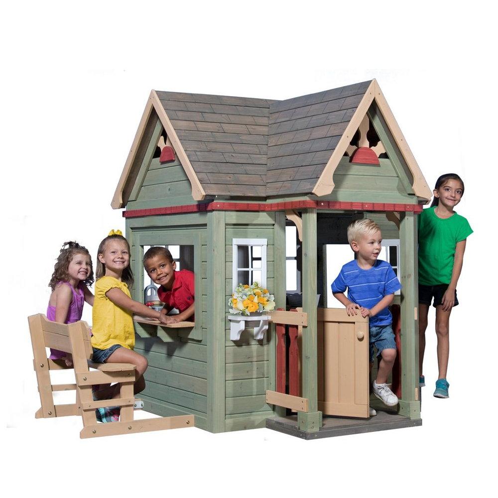 Kinder-Spielhaus Victorian Inn Gartenhaus für Kinder Holz-Kinderspielhaus