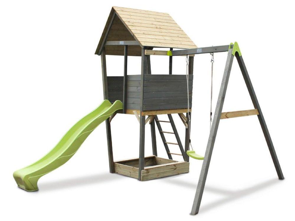 Extrem Kinder-Spielturm EXIT «Aksent» Spielturm, Einzelschaukel mit OV67