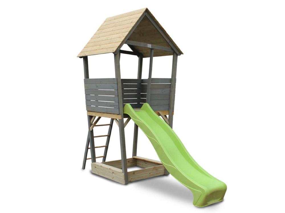 Hervorragend Kinder-Spielturm EXIT «Aksent» Spielturm Holzspielhaus mit Rutsche GS32