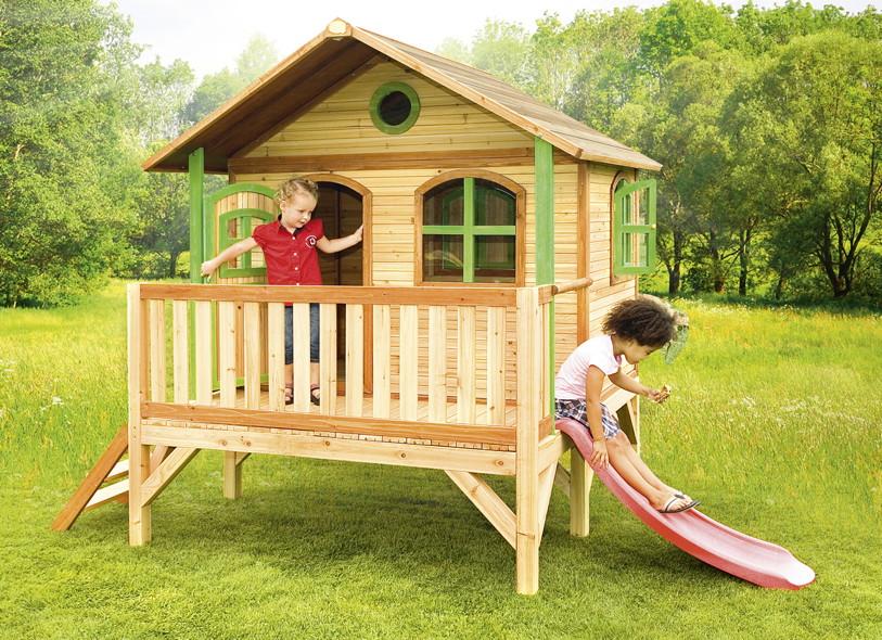 Kinder Spielhaus Flaches Podest Kinderspielhaus Stelzenhaus Rutsche